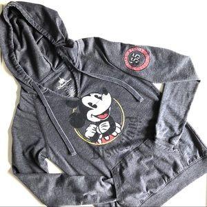 XS Lightweight V-neck Mickey Disney Parks Hoodie